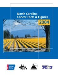 North Carolina Cancer Facts and Figures 2004 - State Center for ...