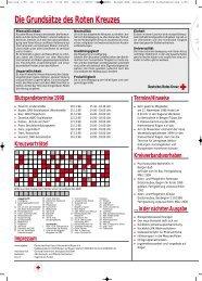 Die Grundsätze des Roten Kreuzes - DRK Kreisverband Rügen e.V.