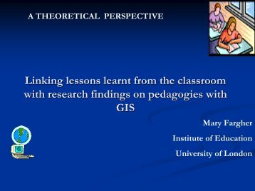 classroom lessons from GIS pedagogy - HERODOT Network for ...