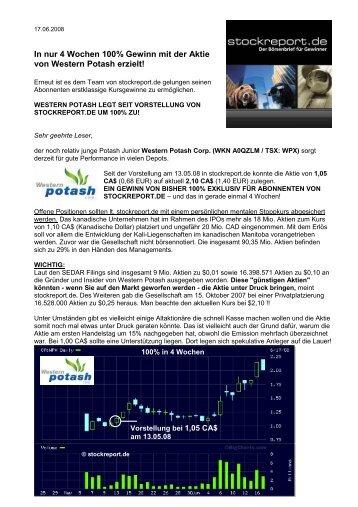 In nur 4 Wochen 100% Gewinn mit der Aktie von ... - Small Cap News