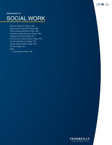 Social Work - Cedarville University
