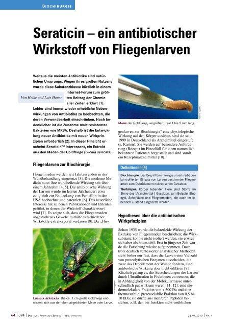 Seraticin – ein antibiotischer Wirkstoff von ... - Werner Sellmer