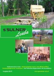 Gemeindezeitung0207 - Gemeinde Sulz