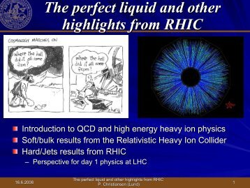 highlights from RHIC - Particle Physics