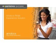 Amdocs Retail Experience Solution