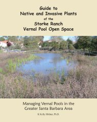 Guide to Native and Invasive Plants Storke Ranch Vernal ... - Cram