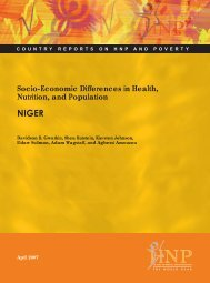 Socio-Economic Differences in Health, Nutrition, and ... - BVSDE