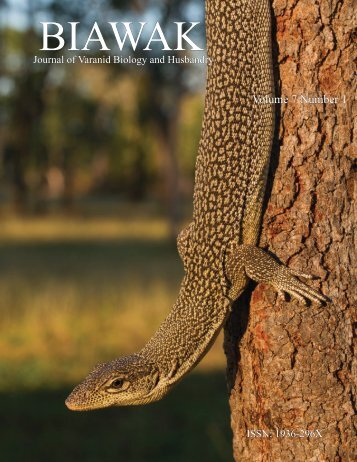 Volume 7 Number 1 - International Varanid Interest Group
