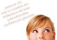 Johanna, 21: Hat in Lissabon ein Praktikum bei ... - ELSA Germany