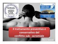 Il trattamento preventivo e conservativo del conflitto sub ... - DMSA