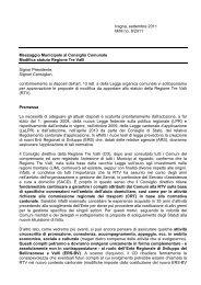 Modifica statuto Regione Tre Valli - Comune di Iragna