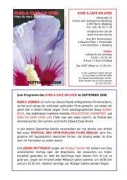 kinoprogramm september 2008 - Kino am Ufer