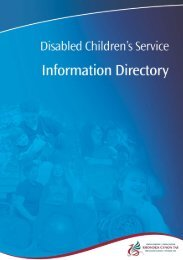 Disabled Childrens Service Information Directory - Rhondda Cynon ...