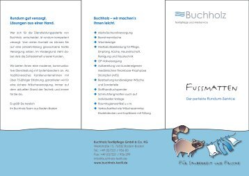 Fussmatten - Buchholz-Textilpflege