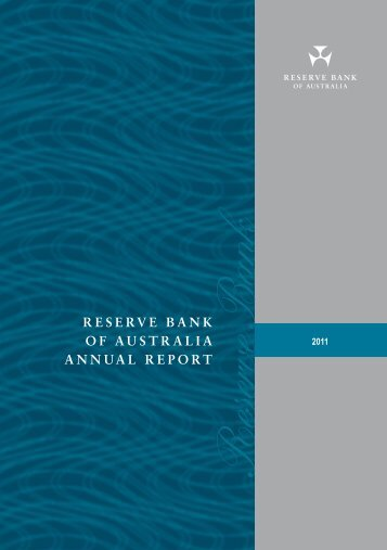 Reserve Bank of Australia Annual Report 2011