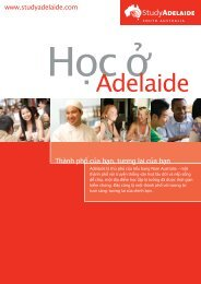 Thành phố của bạn, tương lai của bạn - Study Adelaide
