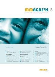 MMagazin 5, 2007/1 - Myelom Hilfe Österreich