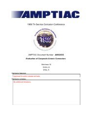 Evaluation of Composite Avionic Connectors - NAMIS