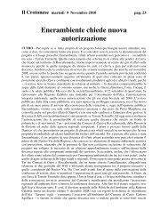 Il Crotonese: Enerambiente chiede nuova autorizzazione del 2010