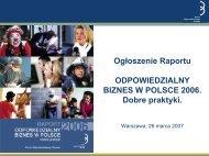 Prezentacja - Forum Odpowiedzialnego Biznesu