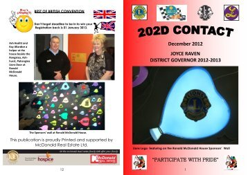 December Contact 2012 - Lions Clubs New Zealand