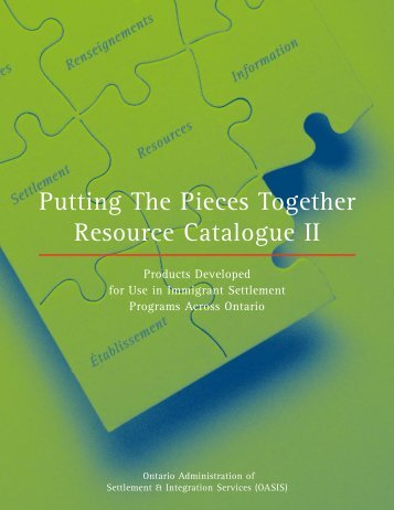 Putting The Pieces Together Resource Catalogue II - Settlement.org