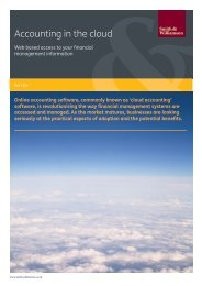 Accounting in the cloud - Smith & Williamson