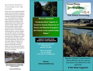 Great Plains Fish Habitat Brochure - PrairieFish.org