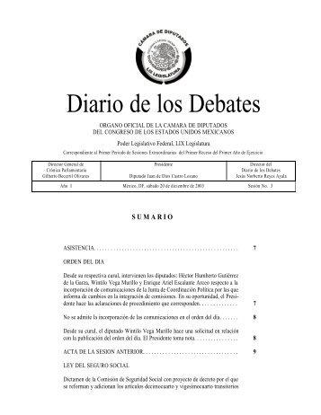 Sábado 20 - Versión estenográfica - Cámara de Diputados