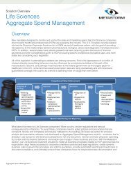 Life Sciences Aggregate Spend Management