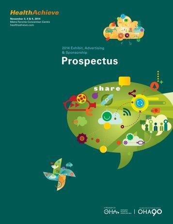 2013 Exhibit, Sponsorship & Advertising Prospectus - HealthAchieve