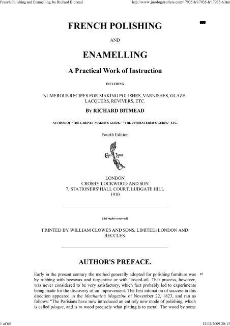 French Polishing and Enamel... - Yesterday Image