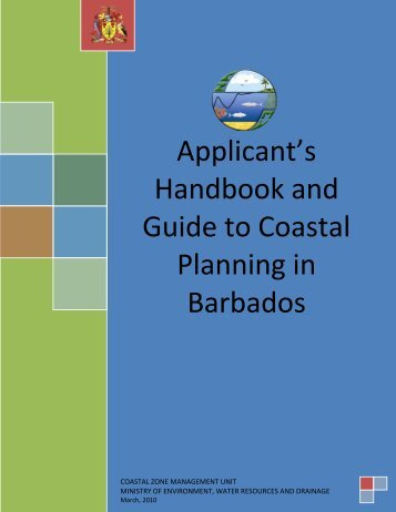 Applicant's Handbook and Guide to Coastal Planning in Barbados