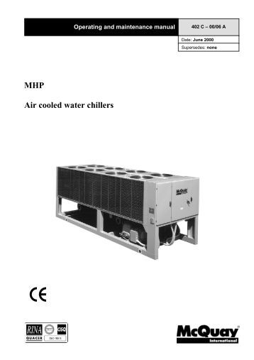 Ag 31-002 Centrifugal Chiller Fundamentals