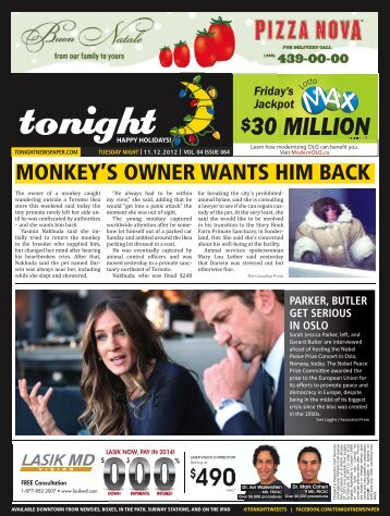 30 million - tonight Newspaper