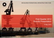 2012 first quarter results presentation - Macquarie