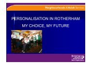 Personalisation in Rotherham: My Choice, My Future PDF 476 KB