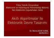 Akıllı Algoritmalar ile Elektronik Devre Tasarımı - Yıldız Teknik ...
