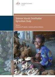Solomon Islands Smallholder Agriculture Study: Volume 2 - AusAID