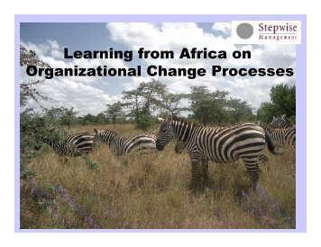 Learning from Africa on Organizational Change Processes