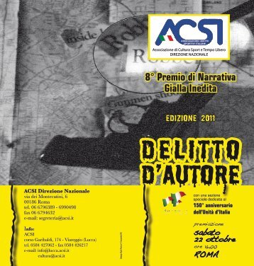 DELITTO D'AUTORE - Concorsi Letterari