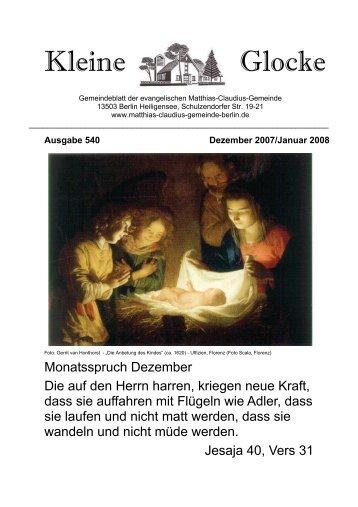 Kleine Glocke - Matthias-Claudius-Gemeinde