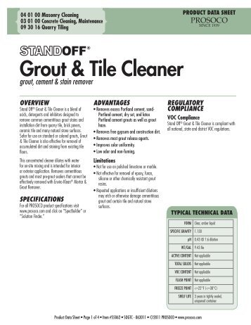 Grout & Tile Cleaner - PROSOCO, Inc.