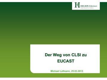 Der Weg von CLSI zu EUCAST - PEG-Symposien