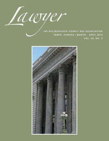 Mar-Apr 2012 LAWYER Cover_Layout 1 - Hillsborough County Bar ...