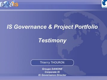 IS Governance & Project Portfolio Testimony - Cigref