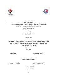 Grup Miktap Proje Raporu - Çanakkale Onsekiz Mart Üniversitesi