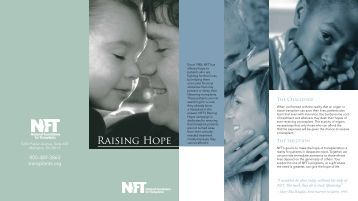 to download our donor brochure - National Foundation for Transplants