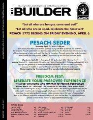 Pesach seder - Congregation Beth El