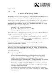 the Draft Energy White Paper - Australian Conservation Foundation